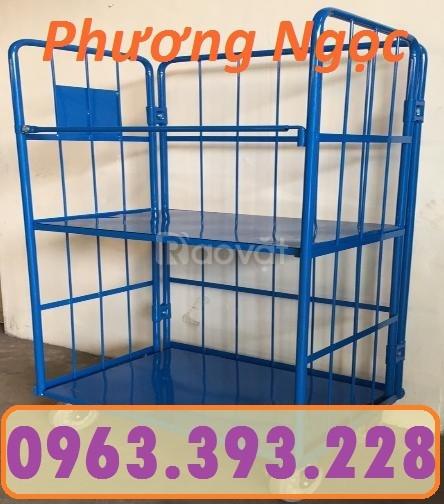 Lồng trữ hàng, pallet lưới, lồng trữ hàng sơn tĩnh điện,sọt lưới đựng