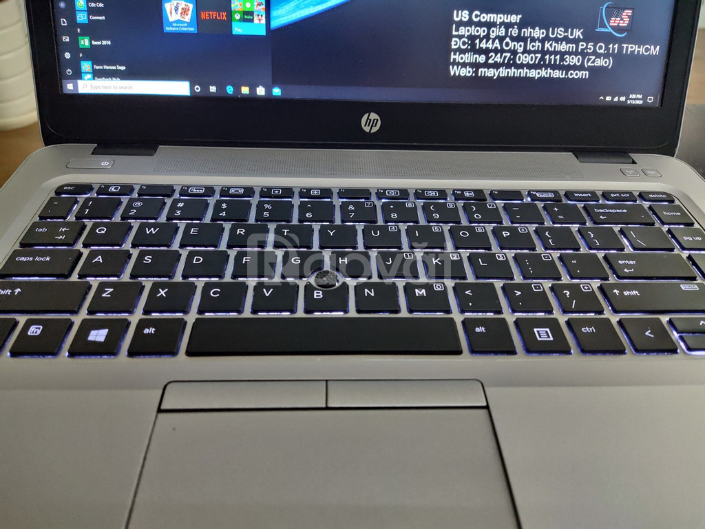 Laptop US rẻ: HP Elitebook 840 G4 i5-7300U DDR4 8G, SSD 256G, 14