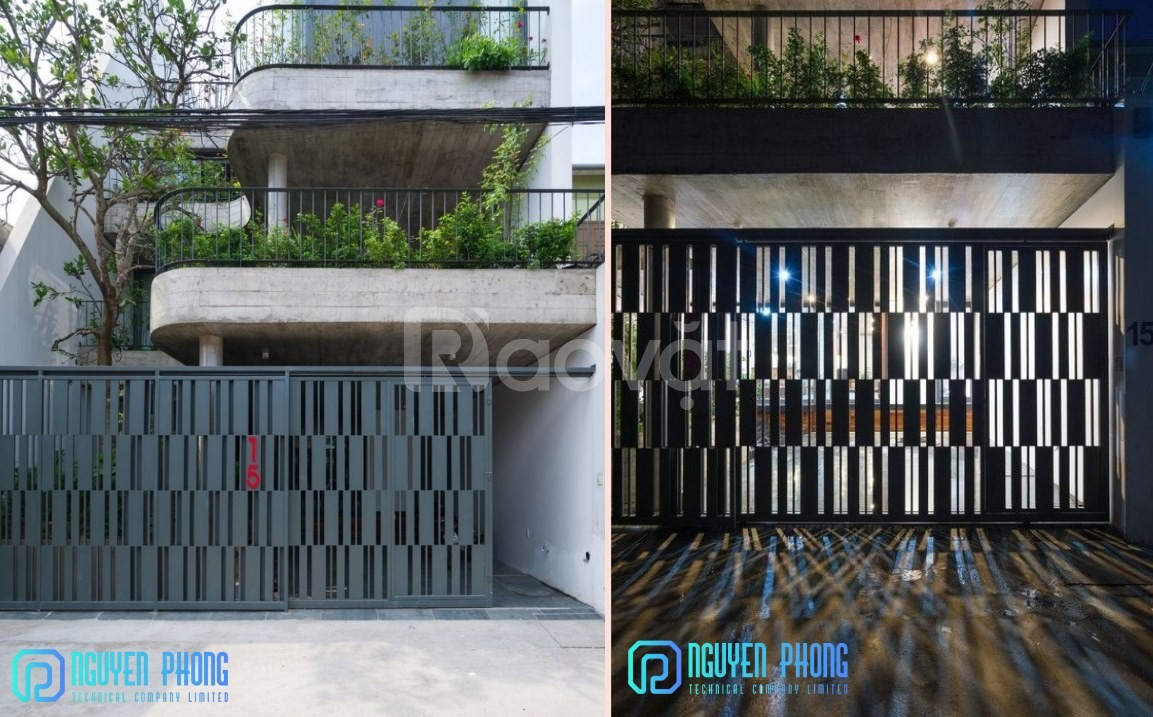 Cửa, cổng biệt thự cắt CNC nghệ thuật, sang trọng, sơn bền màu 2020 (ảnh 7)