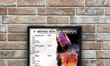 In poster trang trí quán cà phê, trà sữa