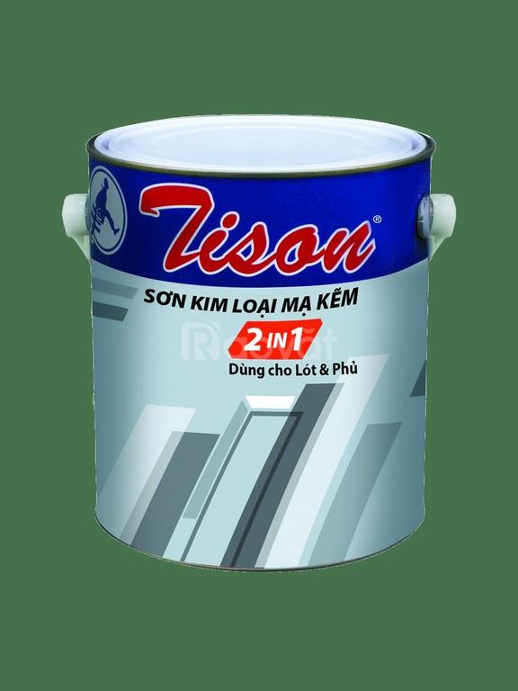 Nhà phân phối sơn lót mạ kẽm một thành phần Tison màu xám thùng 18L