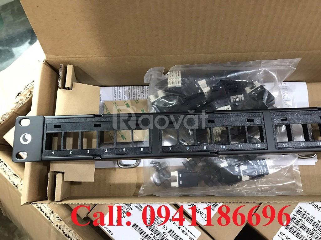 Thanh đấu nối patch panel 24 cổng cat6 UTP,1U