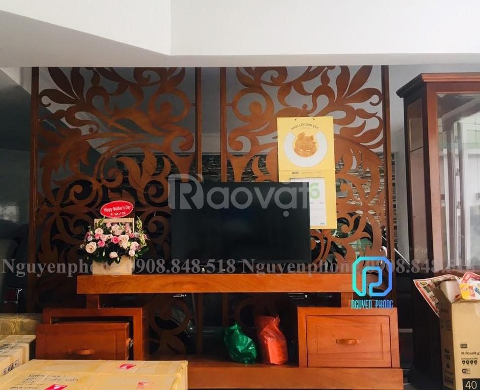 Vách ngăn cắt CNC trang trí phòng khách, quán cf, nhà hàng