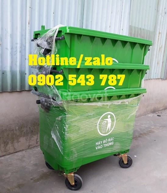 Sản xuất thùng rác 660L HDPE, giá sỉ thùng rác 660 lít HDPE nhập khẩu