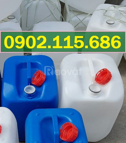 Can nhựa 30l, can nhựa có nắp chống tràn, can nhựa có nắp chống chiết