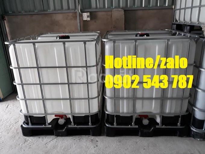 Tank ibc vuông cũ, tank ibc 1000 lít cũ; tank ibc chứa hóa chất cũ