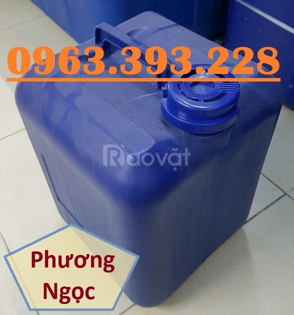 Can nhựa vuông đựng hóa chất,can nhựa HDPE 20L,can vuông 20 Lít vuông