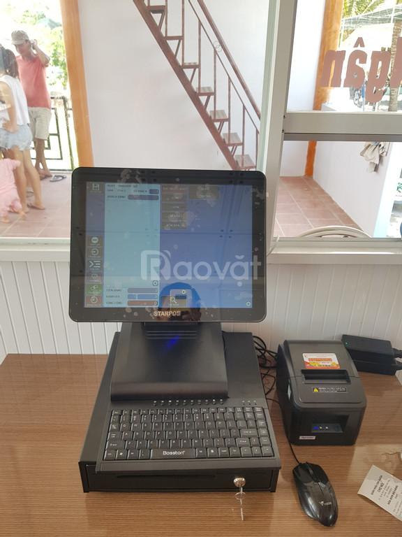 Trọn bộ máy tính tiền dành cho quán nhậu sân vườn tại Tiền Giang