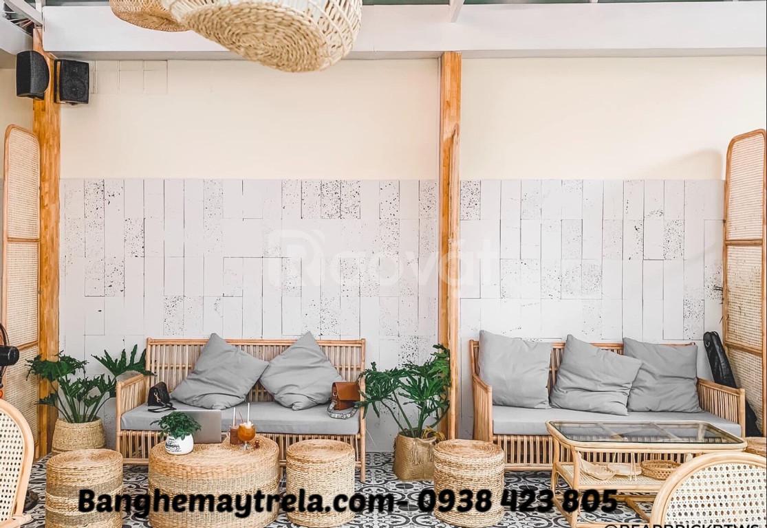Bàn ghế sofa mây tự nhiên đơn giản