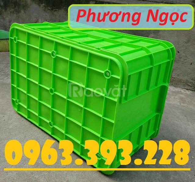 Thùng nhựa đặc HS019, hộp nhựa cao 31, thùng đặc 3T1, thùng đựng nông