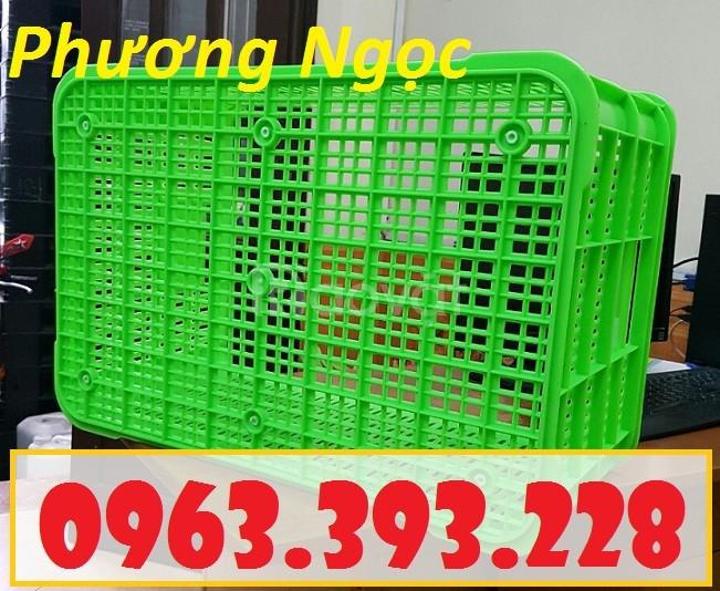 Sọt nhựa đựng nông sản cao 31, sóng nhựa công nghiệp, sọt rỗng HS004