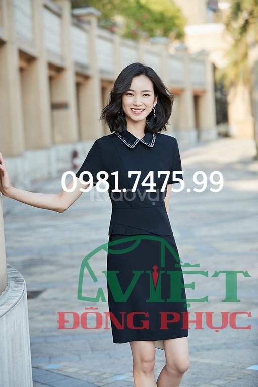 Xưởng may đồng phục váy liền công sở thời trang, giá tốt