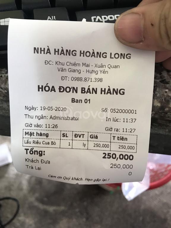 Phần mềm tính tiền dành cho quán nhậu tại Hưng Yên