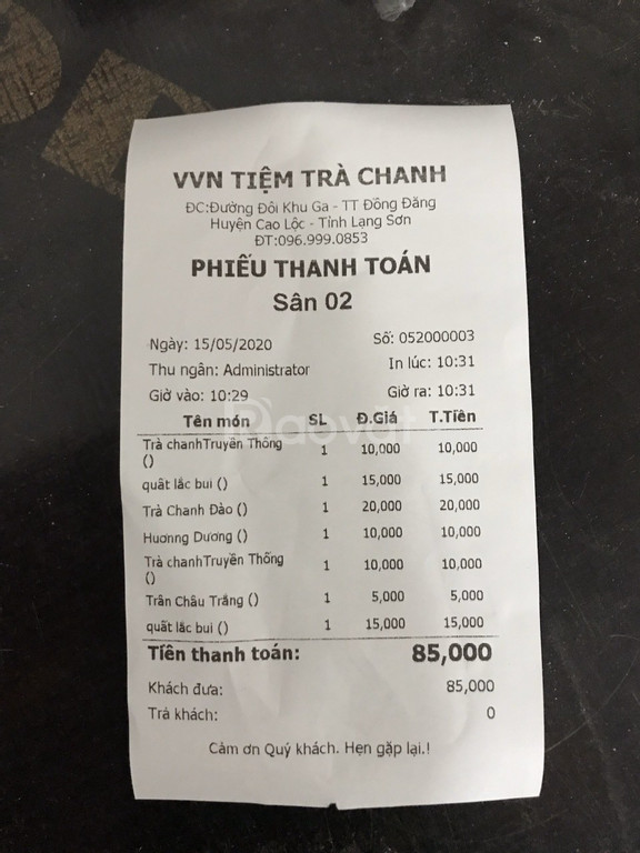 Tư vấn máy tính tiền cho quán trà chanh giá rẻ tại BMT