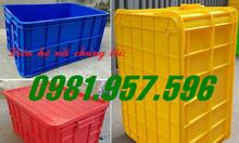 Thùng nhựa cao 31cm, thùng đặc 3T1, sóng nhựa 3 tấc 1