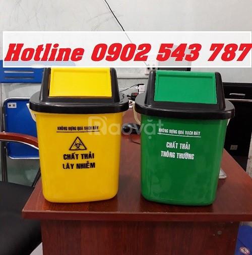 Thùng rác y tế treo xe tiêm, thùng rác xe tiêm 10l, thùng rác nắp lật
