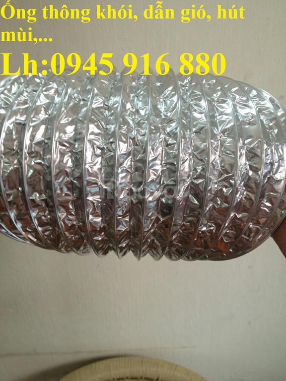 Ống bạc mềm có lõi thép hút bụi, hút mùi, dẫn khói, dẫn khí