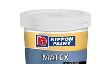 Sơn nội thất Nippon Matex màu chuẩn|Thùng 18lit