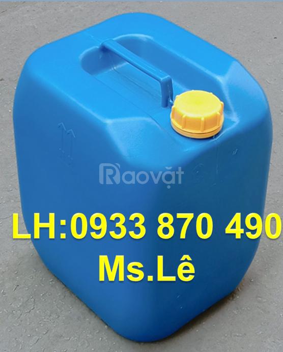 Can nhựa 20 lít , thùng nhựa 20L đựng hóa chất, can hóa chất 20L vuông