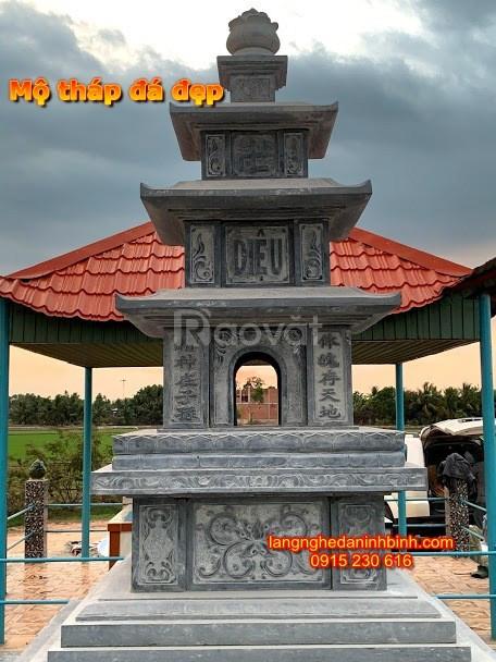 Mẫu mộ tháp phong thuỷ cách xây tháp mộ đá, mộ đá tháp chuẩn