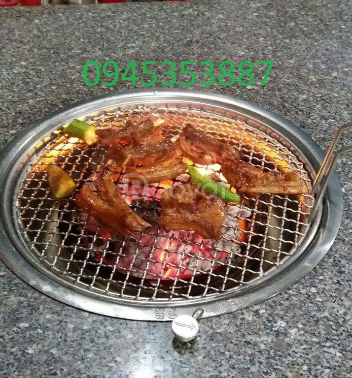 Lò nướng than hoa không khói Hàn Quốc Hút Dương bếp nướng than hoa âm