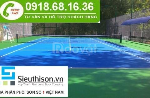 Cần mua sơn sân tennis giá rẻ tại Long An, chiết khấu cho công trình