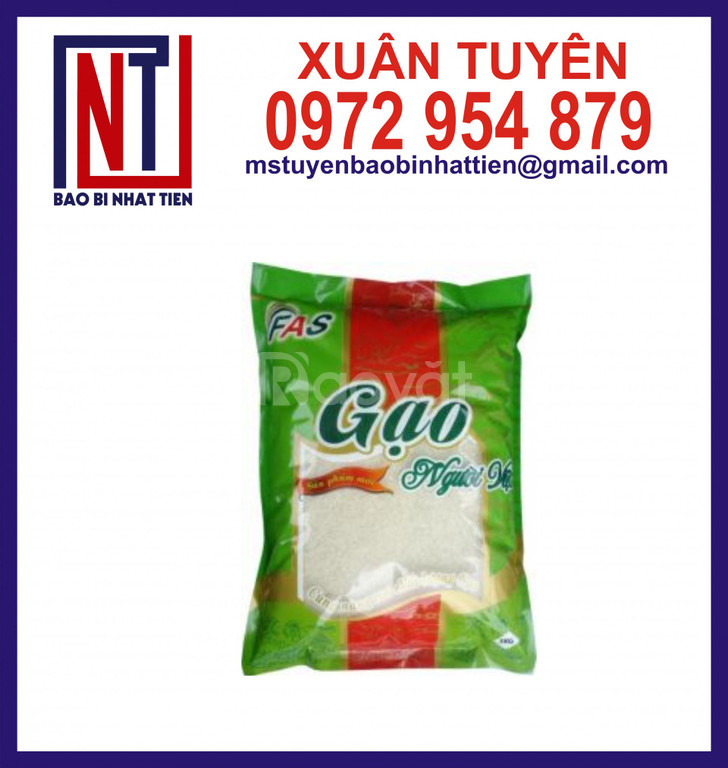 Bao bì gạo 5kg, bao bì nhựa