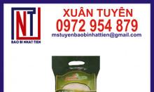 Bao bì màng ghép in ống đồng đựng gạo 5kg