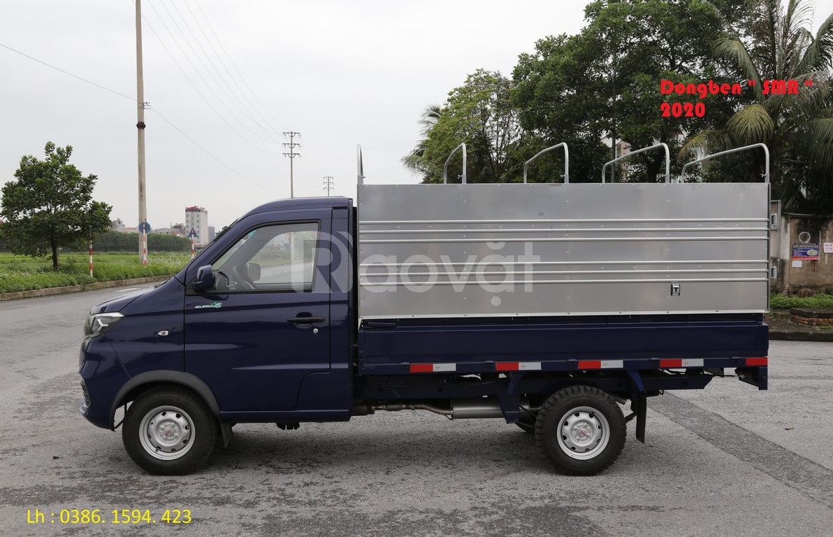 Xe tải 1 tấn: Xe tải dongben srm 930kg +thùng dài 2m7, km 10tr.