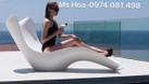 Ghế nhựa hồ bơi Fiberglass, ghế nhựa ngoài trời nhập Pháp (ảnh 4)