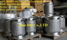 Sản phẩm ống mềm inox phi 60, khớp nối mềm inox lắp ren, lắp bích
