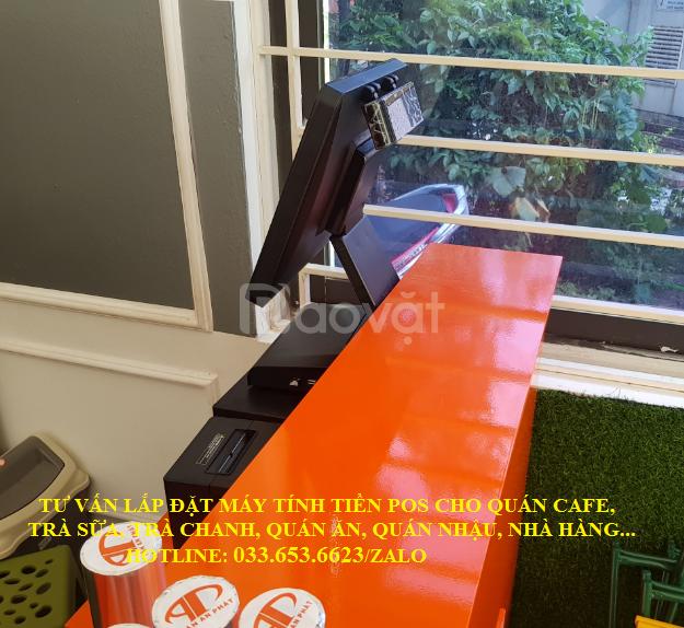 Lắp máy tính tiền cho quán trà chanh tại Quảng Ninh