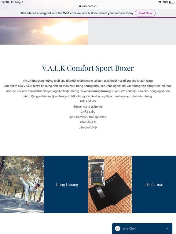 V.A.L.K cần tìm đại lý cho sản phẩm đồ lót nam dòng thể thao