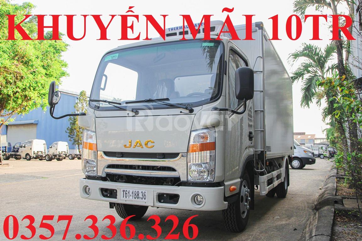 Xe tải JAC 3.5 tấn 2020 máy Isuzu thùng dài 4.4 mét