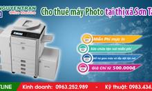 Cho thuê máy photocopy tại thị xã Sơn Tây
