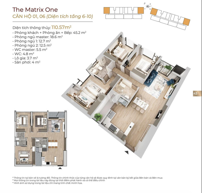 The Matrix One Mễ Trì căn hộ cc chính sách tốt