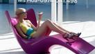 Ghế nhựa hồ bơi Fiberglass, ghế nằm tắm nắng (ảnh 1)