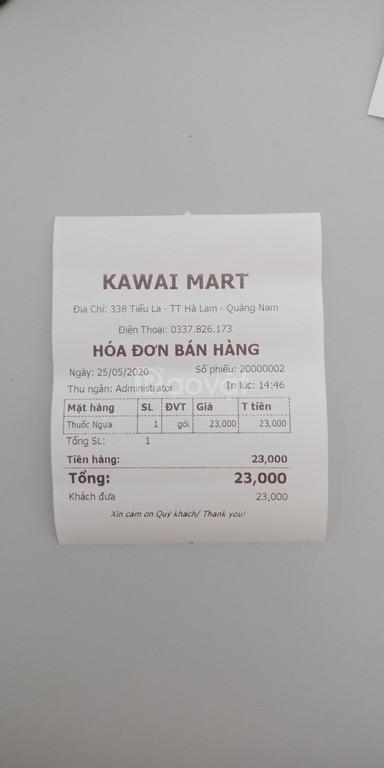 Máy tính tiền dành cho siêu thị mini tại Quảng Nam giá rẻ