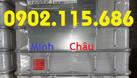 Tank IBC đựng hóa chất, bồn 1 khối đựng nước công trình bồn 1000l đựng (ảnh 4)