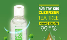 Cần thanh lý lô 500 chai gel rửa tay khô Hand Cleanser Tea Tree