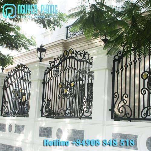 Top những mẫu hàng rào sắt uốn mỹ thuật đẹp, cao cấp cho mặt tiền (ảnh 5)
