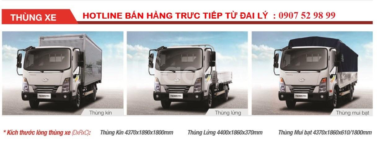 Xe tải Teraco 245L 2.4 tấn thùng 4m4 tại Cần Thơ, Sóc Trăng, An Giang