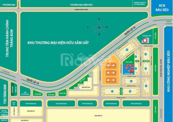 Nhận đặt chổ Nhà Phố-Đất nền, MT đường Quốc lộ 1A, Trảng Bom, Đồng Nai