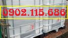 Tank IBC đựng hóa chất, bồn 1 khối đựng nước công trình bồn 1000l đựng (ảnh 7)