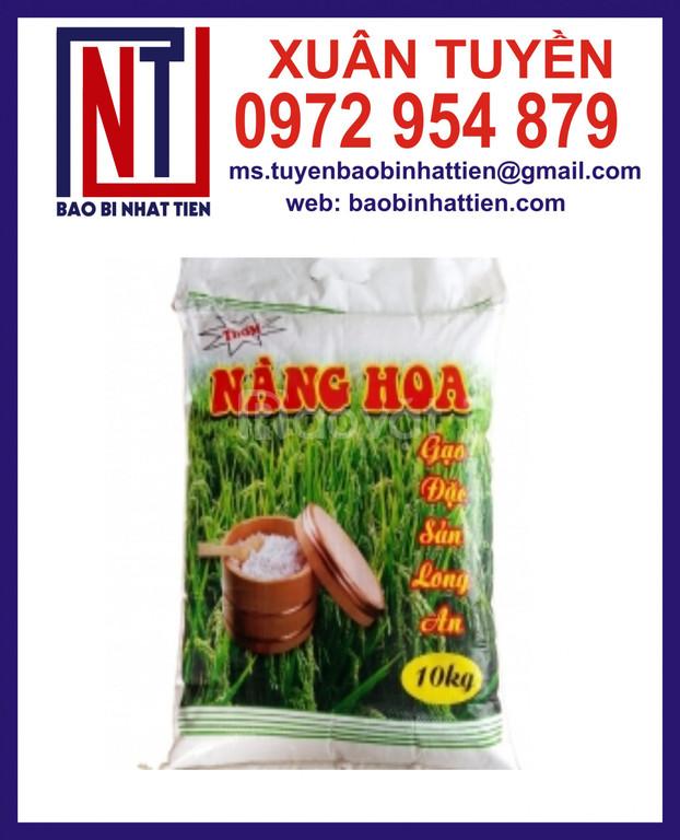 Bao PP dệt đựng gạo, bao bì gạo 10kg