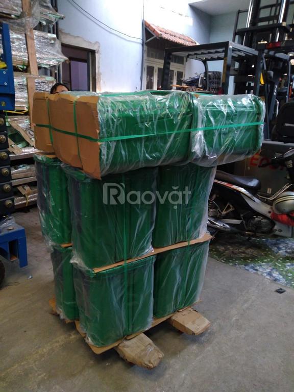 Thùng rác 40L - 2 ngăn đạp chân