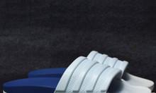 Dép Adidas Cloudfoam Plus Graphic xanh dương đế trắng quai mono trắng