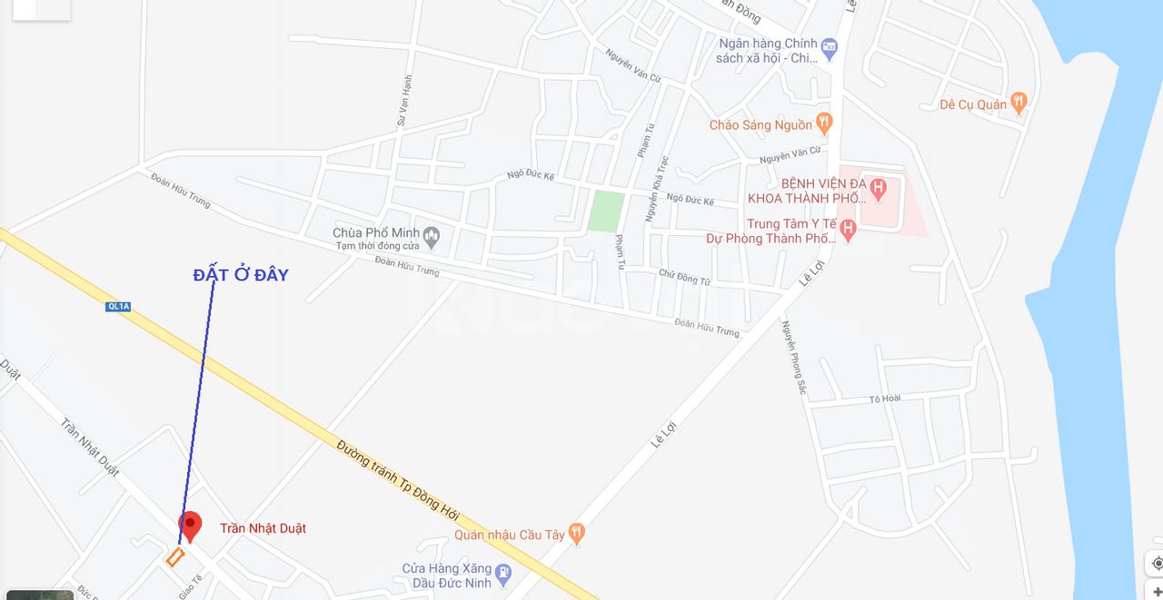 Bán lô đất mặt tiền đường Trần Nhật Duật, Đức Ninh, Đồng Hới