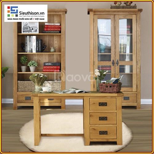 Tìm cơ sở cung cấp sơn phủ PU gỗ 2 thành phần Cadin màu cánh gián