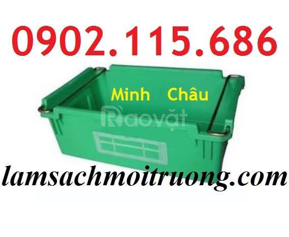 Hộp nhựa quai sắt, thùng nhựa quai sắt, khay nhựa quai sắt, thùng nhựa